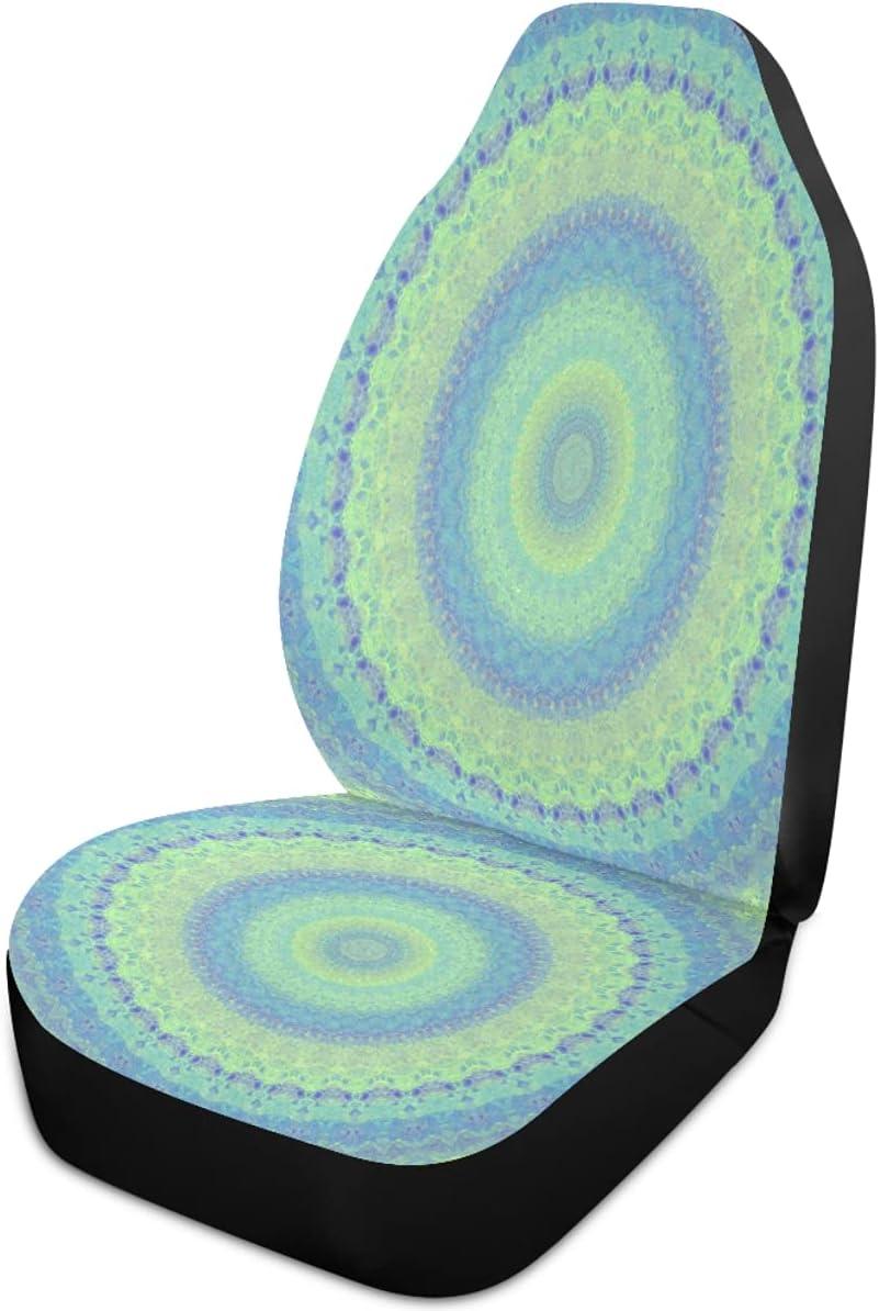 Oarencol Mandala Boho Flower Car Green Tampa Mall Covers Blue Financial sales sale Seat Florals