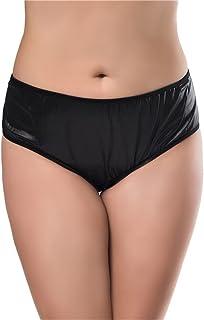 bbd9533151d6 Youyamei Women(m-6xl) Sexy Open Crotch Underwear Faxu Leather Knickers  Panties Thongs