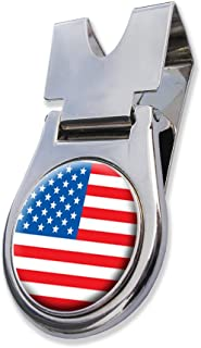 ASBRI United States Of America Usa Belt Clip And Magnetic Golf Ball Marker Golf