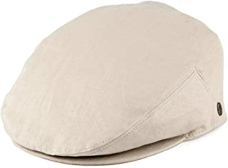 6a8fced1 Jaxon & James Linen Flat Cap - Natural