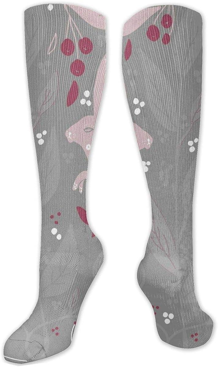 Rabbit Flowers Knee High Socks Leg Warmer Dresses Long Boot Stockings For Womens Cosplay Daily Wear