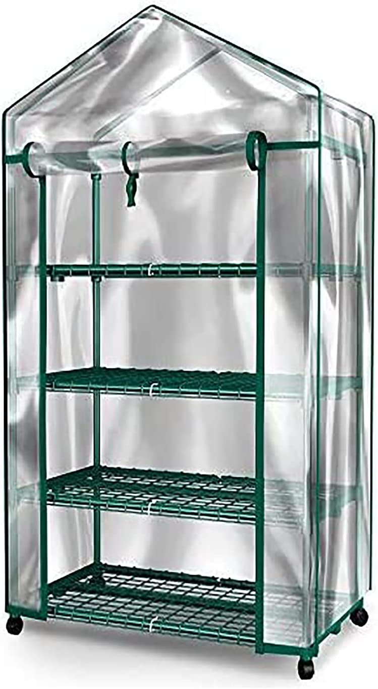 Small Greenhouse 4 Tiers Shelves Sales for sale Gorgeous Outdoor Portable Patio L Indoor