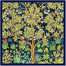 Orenco Originals William Morris Square Tree Life Blue Background Design Counted Cross Stitch Pattern