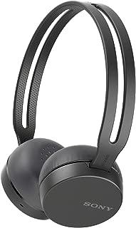 ソニー SONY ワイヤレスヘッドホン WH-CH400 : Bluetooth対応 最大20時間連続再生 マイク付き 2018年モデル ブラック WH-CH400 B