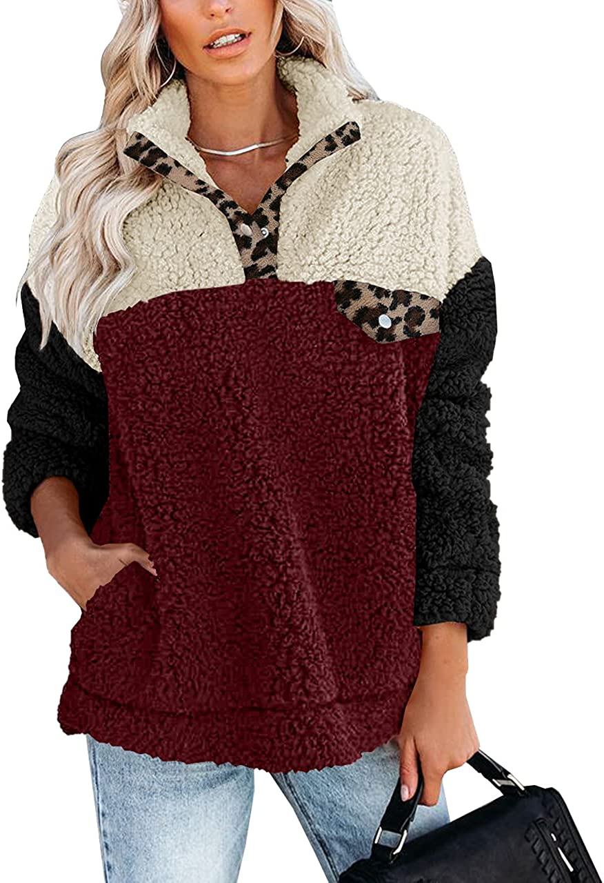 For G and Seattle Mall PL Women's Long Excellence Color Sweater with Fuzzy Sleeve Block