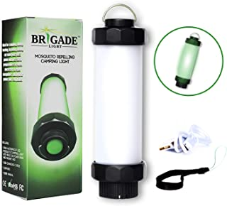 Mosquito Repelling Camping Lantern Light Keeps Bugs Away- Waterproof- LED Flashlight Rechargeable- Emergency Light Stick w/Multiple Modes for Hurricane Supplies- Built-in Charging Station for Phone