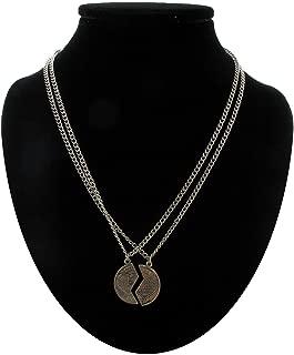 BFF Pendant Necklace Set Mizpah Coin Best Friends Genesis Pendant Silver Tone Necklace For Women