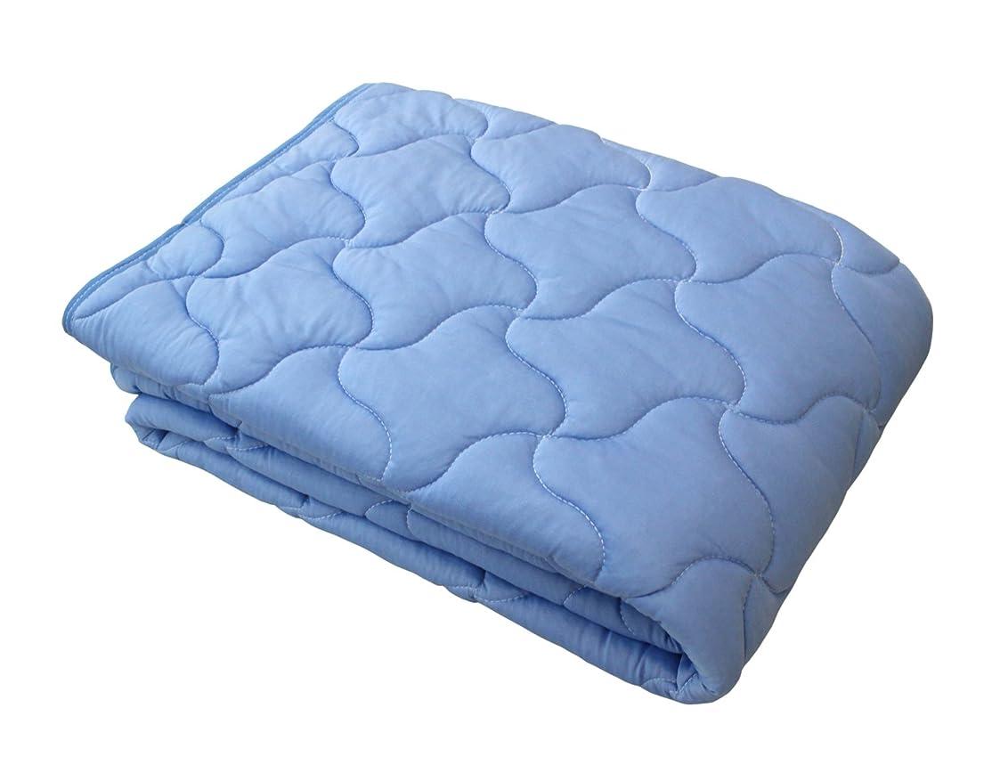 ワイヤー床を掃除する援助ロマンス小杉 敷きパッド ブルー シングル アイス眠 1-3131-5800-8700