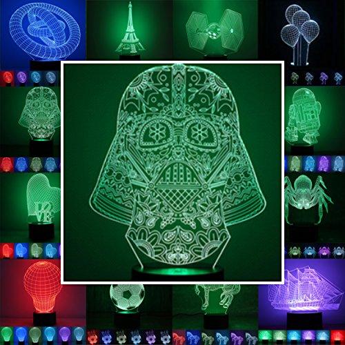 Designscheibe/Motivscheibe für 3D Lampe 3D Leuchte 3D LED Stimmungslicht in vielen verschiedenen Designs, hier Darth Vader 2 ca.23x16cm NUR Scheibe OHNE Sockel