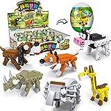 POOPHUNS Juguetes de construcción, Juguetes de cápsulas de Animales, Juguetes de Bloques de construcción compuestos de partículas pequeñas, Juguetes de Dibujos Animados creativos para niños