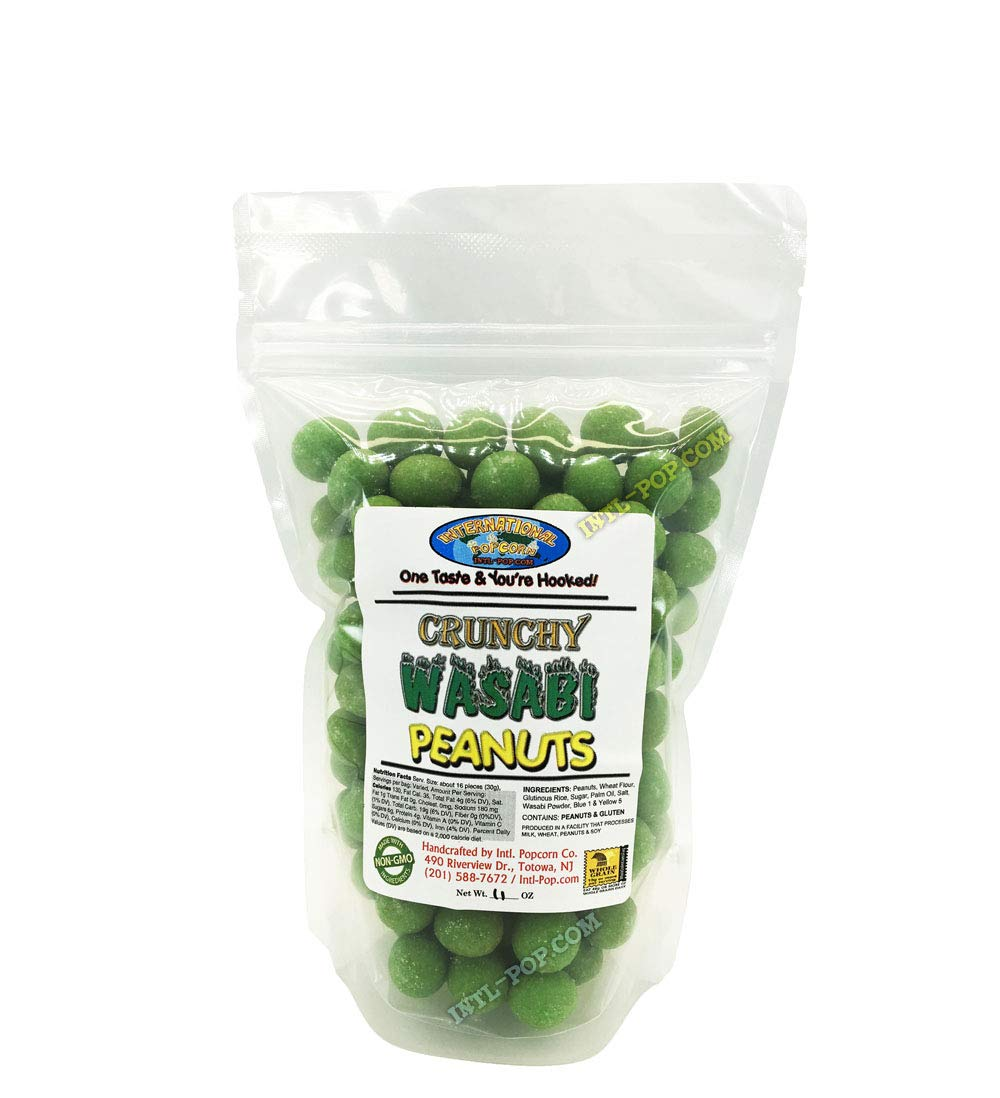 Max 48% OFF Wasabi Coated Peanuts Crunchies in Bag Portland Mall Resealable Thick Plastic