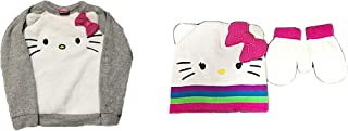 Hello Kitty Character Top Size 4T Plus Knit Hat and Mittens Set
