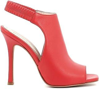 Pierfrancesco Vincenti Sandali in Pelle con Tacco a Spillo e Fascia Posteriore Elasticizzata - Scarpe Donna Made in Italy ...