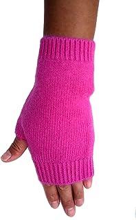 Mongolia Pure Cashmere Wool Women Woman Men Man Thick Fingerless Gloves Mittens(1 pairs)