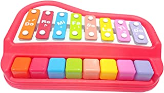 Unicorn Gifts 2 in 1 Xylophone and Piano Toy with Colorful Keys for Toddlers and Kids (Green)