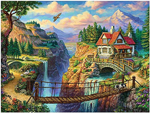 XiuTaiLtd House On The Cliff Puzzle Game for Adults 1000 Pieces, 75X50Cm, for Friends