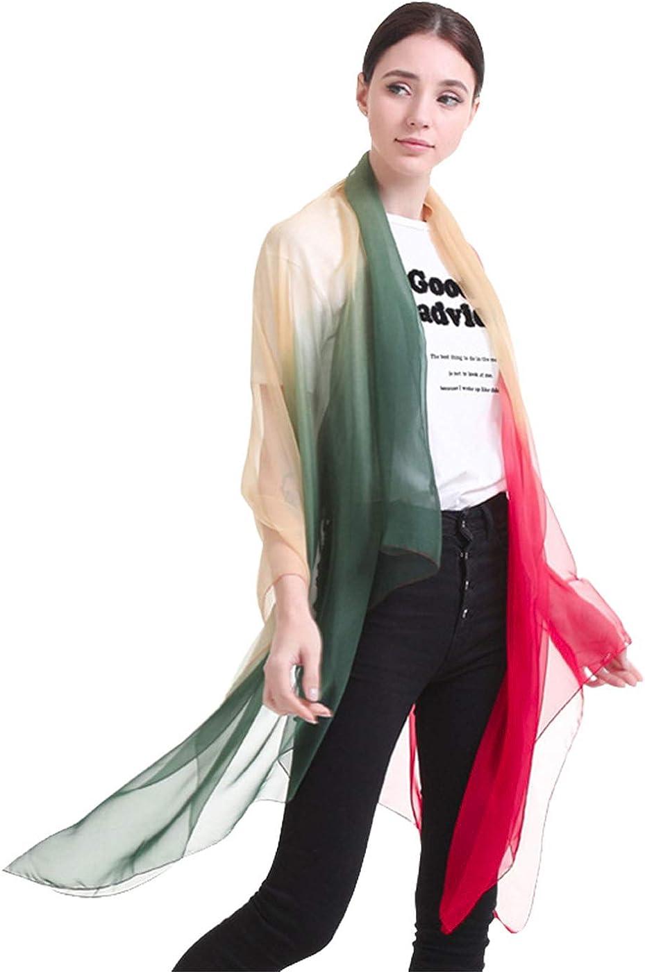 Simsly Womens Scarf Shawl Chiffon Soft Shawl Scarves Wrap (Multicolor)