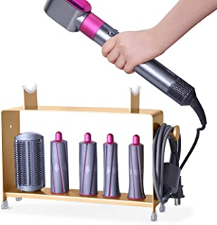 Fle Storage Holder for Dyson Hair Airwrap Styler Hair Curling Wand Holder(Countertop Bracket - Gold)