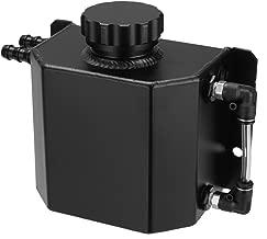 Hwbnde Coolant Overflow Tank Bottle Recovery Reservoir Aluminum JDM Container Universal 1L Water Radiator - Black