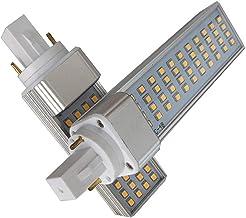 EMGQ Energiebesparende gloeilamp 2 stks Plug Licht LED G24 10W CE G23 Plug Light SMD2835 LED Plug Light PC Cover (Color : ...