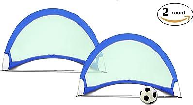 Mitefu Outdoor Flash Pop-Up Target Soccer Tore voor snel spel met draagtas, set van 2 - maten 76cm, 122cm en 152cm
