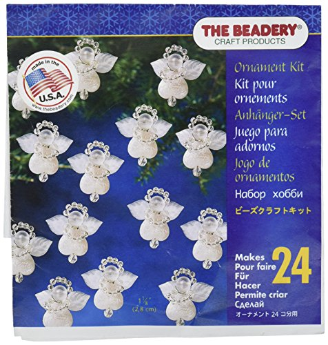 Beadery Holiday Beaded Ornament Kit, 1.125-Inch, Littlest Angel, Makes 24 Ornaments (BOK-5669)