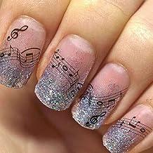 PMSMT 1 Hoja de Belleza Nota Musical Diseños de calcomanías de uñas Arte de uñas Pegatinas de Transferencia de Agua Decoraciones de manicura Láminas deslizantes Envolturas TRSTZ-331