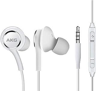 Auriculares estéreo para Samsung Galaxy S10 S10e Plus, diseñados por AKG, con micrófono y botones de volumen, color blanco