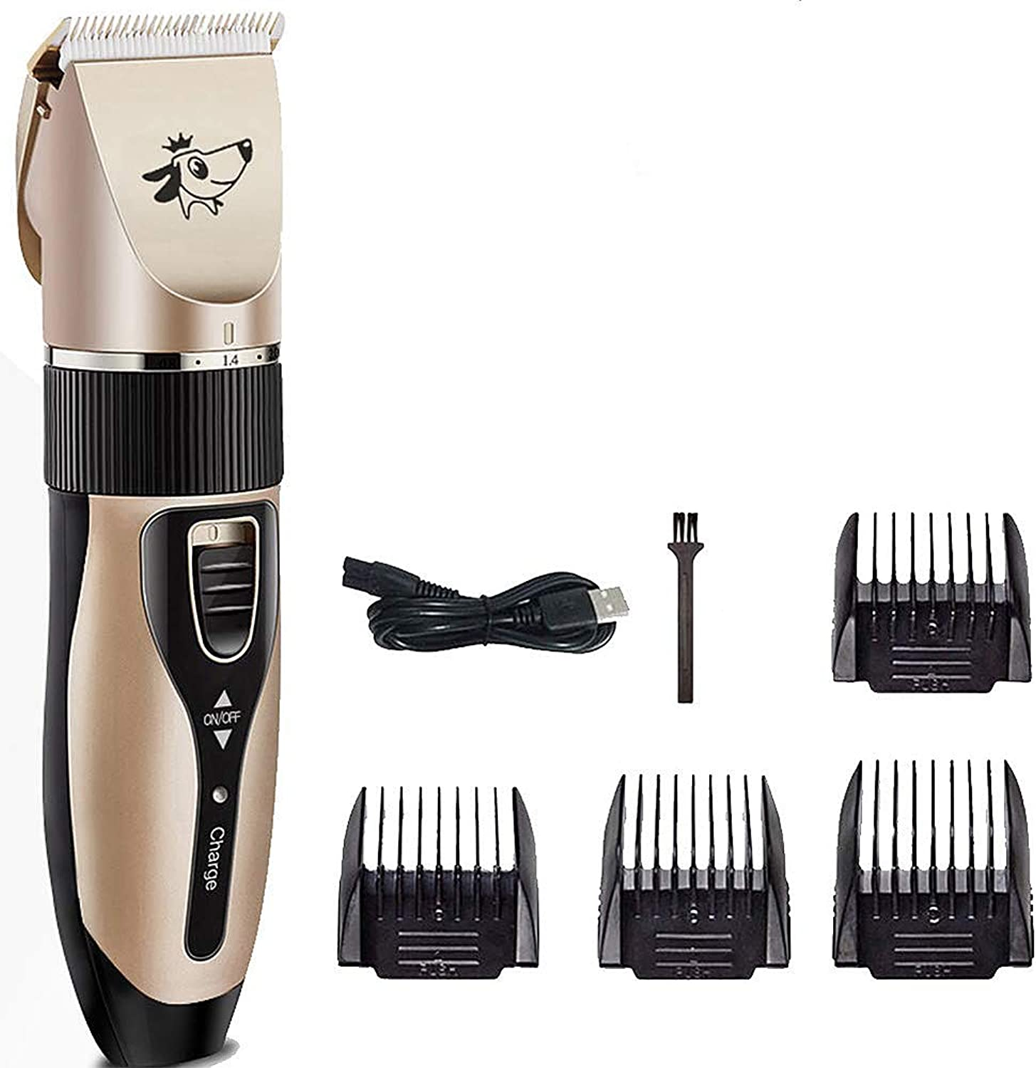 Dog Clippers Low Noise Pet Clippers Dog Shaver Pet Electric Hair Clipper Cordless Rechargeable Low Noise Pet Grooming Hair Clipper