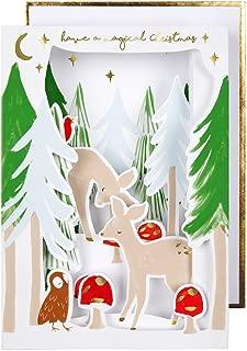 Meri Meri, Festive Woodland Diorama Card, Christmas Accessory, Birthday, Party Decorations