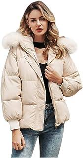 Lataw Women Winter Coats Fashion Overcoat Faux Fur Lined Warm Winter Thicken Jacket Long Sleeve Zipper Pocket Outerwear Clothes