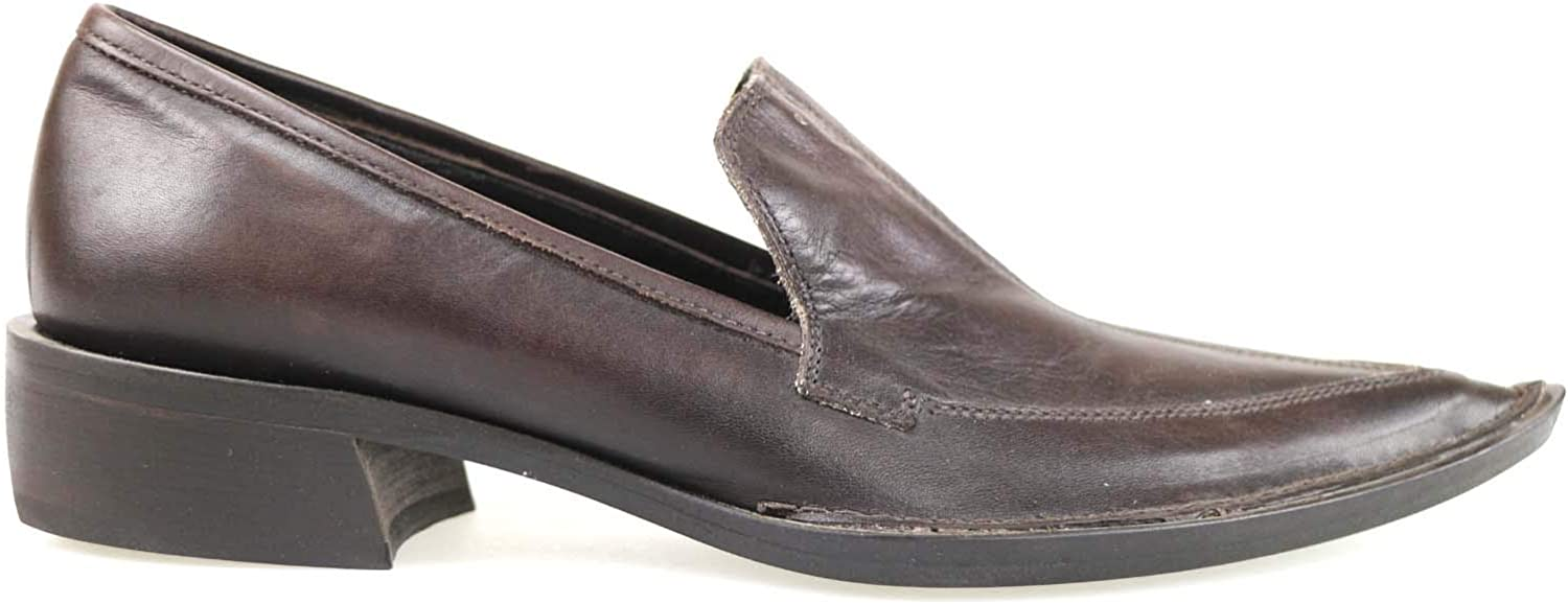 LATITUDE FEMME Loafers-shoes Womens Leather Brown 5 US
