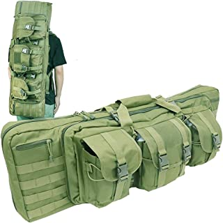 LUVODI Double Rifle Bag Case Tactical Hunting Rifle Backpack Carrying AR Pistol Airsoft Shotgun Long Gun Case 36/42 Inch Rifle Range Bag