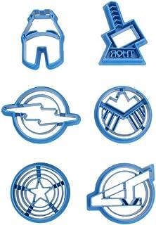 Hotaden Super Series Cookie Cutter Stampo di Taglio Avengers Alliance Zucchero Accessori Cucina 6pcs / Set