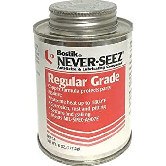 Never-Seez NSBT-8 Silver Gray Regular Grade Anti-Seize Compound, 8 fl. oz. Brush Top Can: image