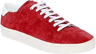 Saint Laurent Court Classic SL01 Suede Red Authentic $700 Sneakers Size 42.5 New