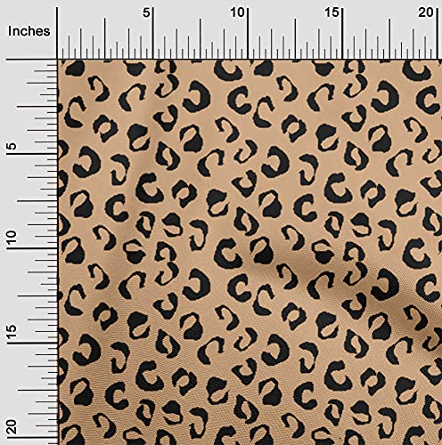 oneOone Cotton Poplin Twill Light Peach Fabric Animal Skin Sewing Fabric by The Yard Printed DIY Clothing Sewing Supplies 56 Inch Wide-D4C