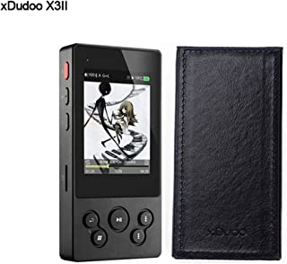 XDUOO X3II HiFi Music Player AK4490 DSD128 USB DAC Bluetooth Portable HD Lossless Music Player(with Leather Case)