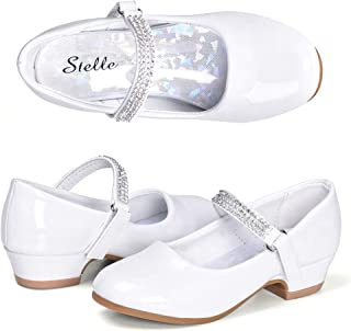 5233fad793 STELLE Girls Mary Jane Shoes Low Heel Party Dress Shoes for Kids