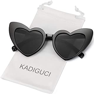 Heart-Shaped Sunglasses Women Vintage Black Pink Red Heart Shape Sun Glasses