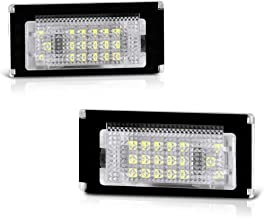VIPMOTOZ Full LED License Plate Light Lamp Assembly Replacement For Mini Cooper R50 R52 R53 Hatchback & Convertible - 6000K Diamond White, 2-Pieces