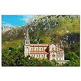 Catedral de España Asturias Puzzle 1000 Piezas para Adultos Familia Rompecabezas Recuerdo Turismo Regalo