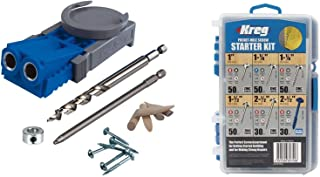 Kreg R3 Pocket Hole Jig and SK04 260-pc. 6-size Screw Kit Bundle for Woodworking