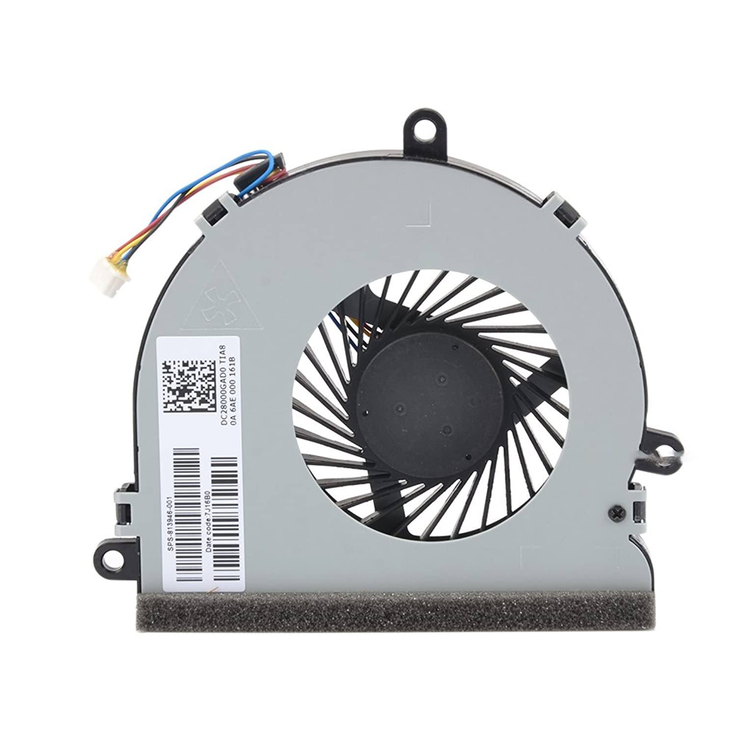 Eathtek Replacement CPU Cooling Fan for HP 15-AC 15-AC622TX 15-ac032no 15-ac033no 15-ac042ur 15-ac121dx 15-ac029ds 15-ac120nr 15-ac137cl 15-ac023ur Series, Compatible Part Number 813946-001