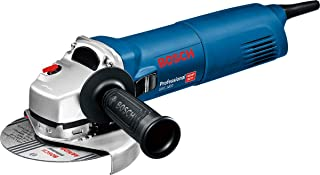 Bosch Professional 0601824800 GWS Angle Grinder (1400 W Motor, 125 mm Disc Diameter, Mounting Flange, Protective Guard, Cl...