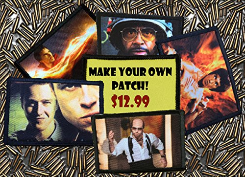 """Design Your Own Custom Morale Patch 2x3"""" Only 12.99 Delivered! Hook and Loop Backed Patch"""