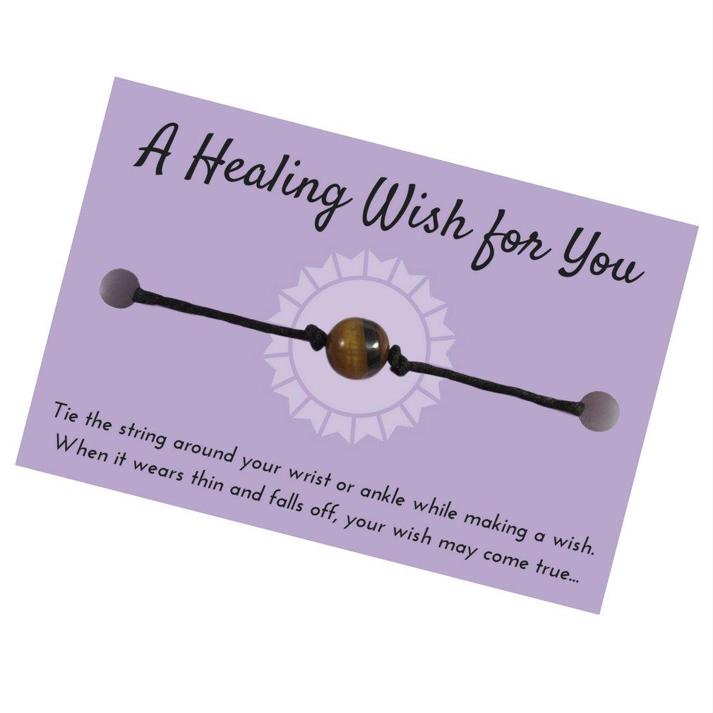 Adjustable Horseshoe Purple Wish Bracelet Hemp with Silver Tone Charm on Printed Card Unisex