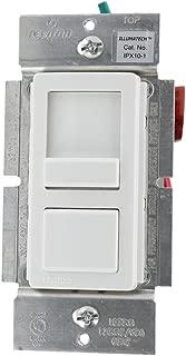 Leviton IPX10-10Z IllumaTech 1000VA, Preset Electronic Mark 10 Powerline Fluorescent Slide Dimmer, Single Pole and 3-Way, White/Ivory/Light Almond