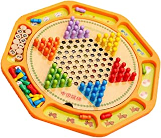 Fenteer Interllectual Exercise Chinese Checkers Games More Wise Lively for Children 13.69inch