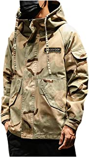 FWEIP Men Military Camouflage Jacket Army Tactical Clothing Male Windbreakers Fashion Hoodie Jacket 2019 Korean Style Clothes 5XL